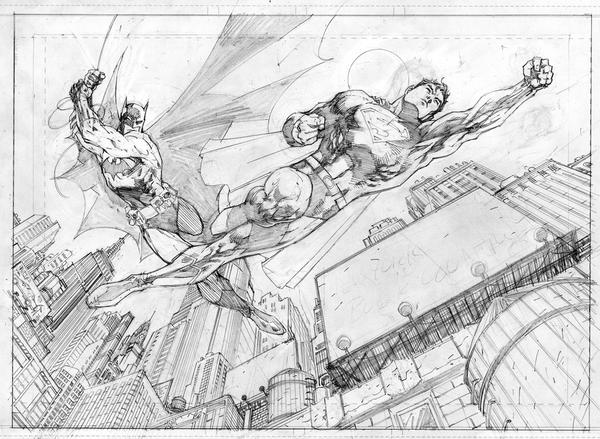 Superman Batman Book Country by jimlee00