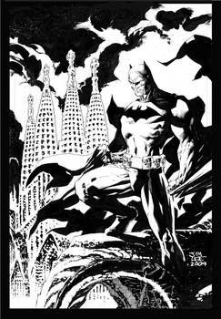 Batman over Barcelona inked