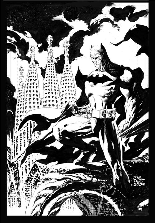 Batman over Barcelona inked