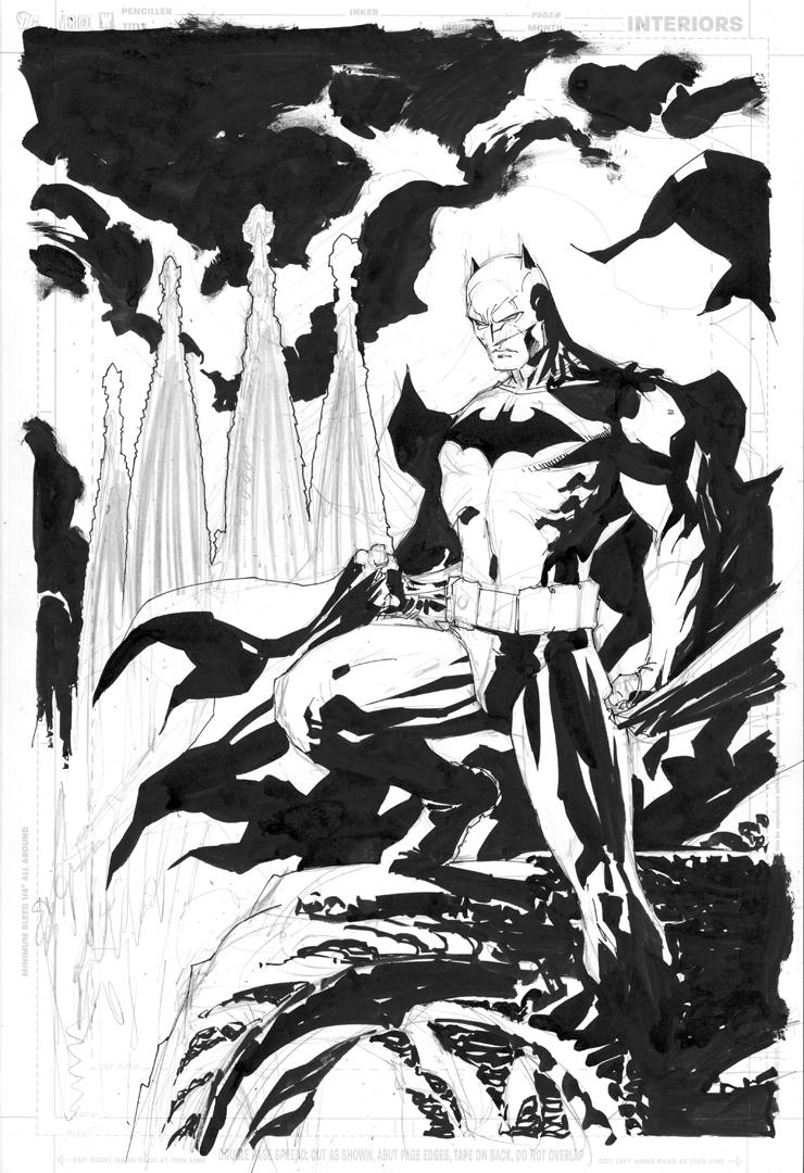 Batman Barcelona rough inks