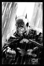 Batman in the Rain Redux by jimlee00