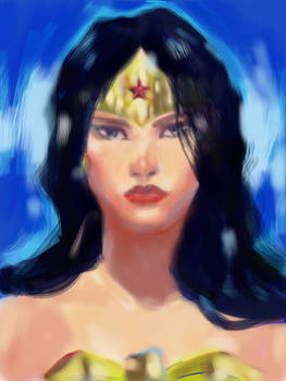 iPad sketch of Wonder Woman