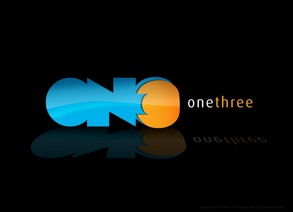 Onethree logo contest by D3STRUCTO