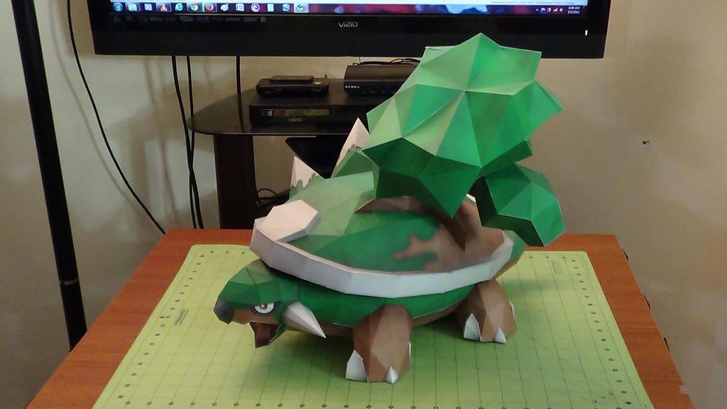 Pokemon Torterra Papercraft 1 by devastator006