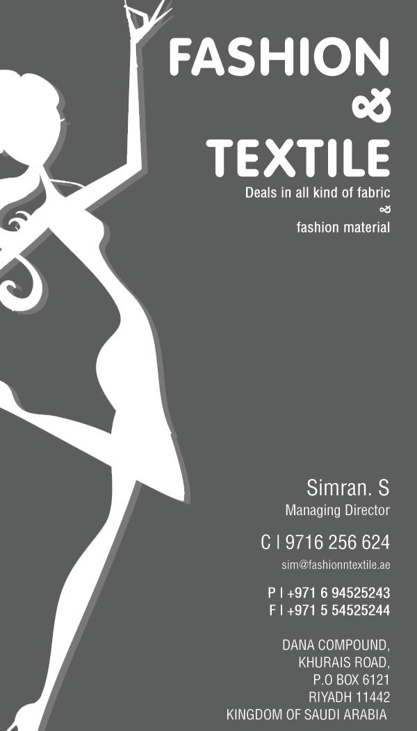 business card fashion