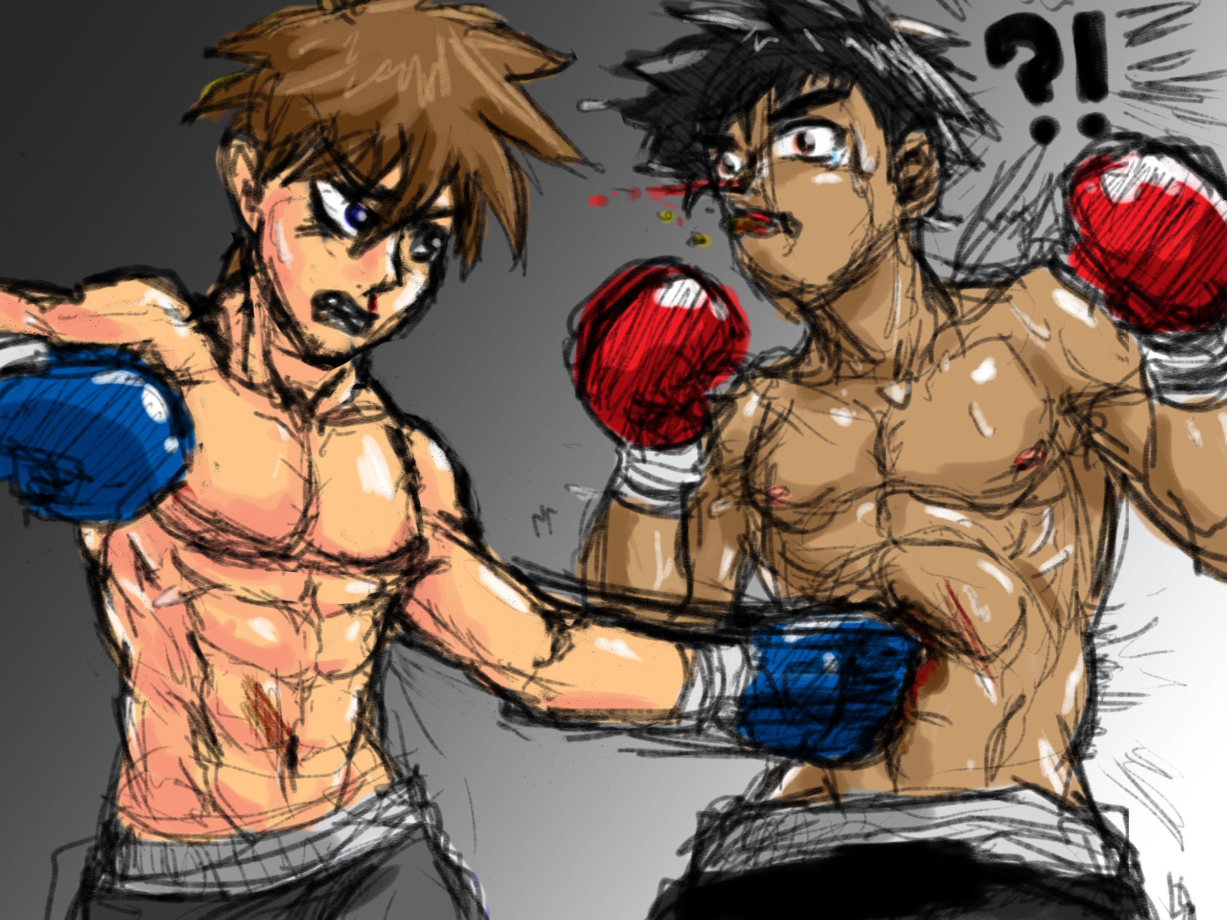 Gut Punch Doodle by P-KC