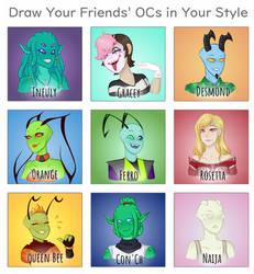 Meme_Draw Your Friends OCs by cheekythalia