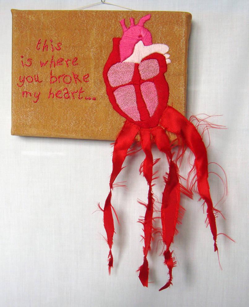 Embroidered Art - Valentine