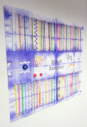 Sketchbook Project 2012: Stitch Sampler
