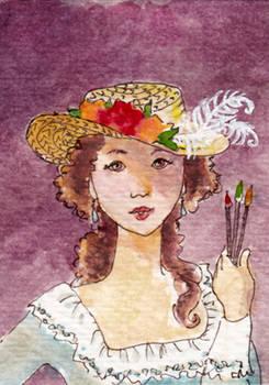 ACEO - Elisabeth the Painter