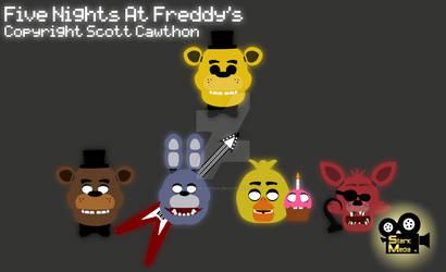 Five Nights At Freddy's Glowing Head Art