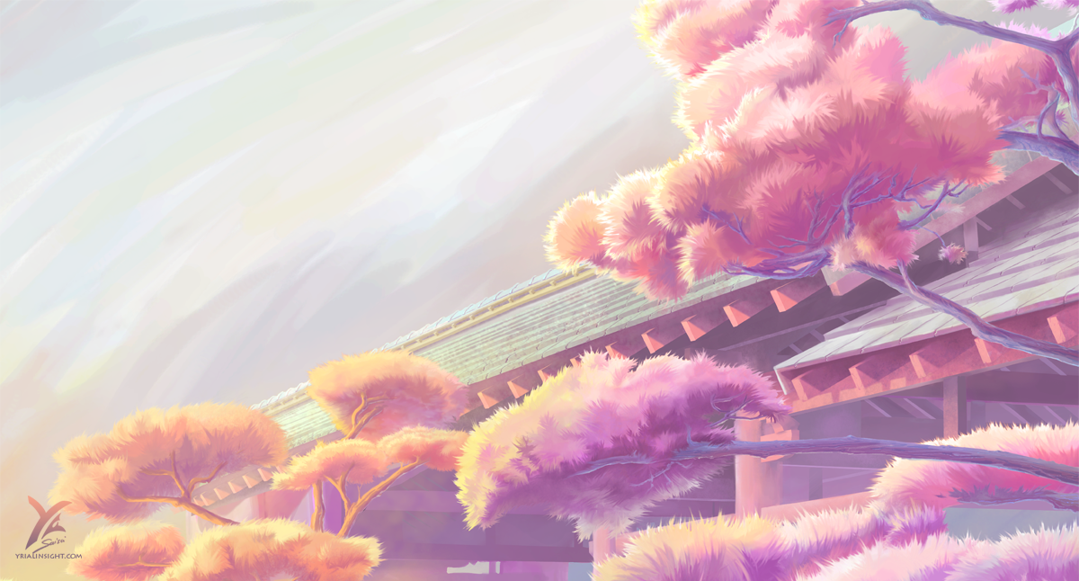 Japanese trees and European roofs