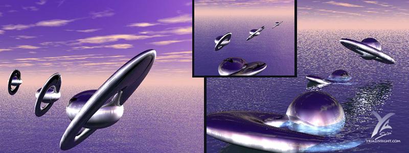 Sea Landing : test in 3D