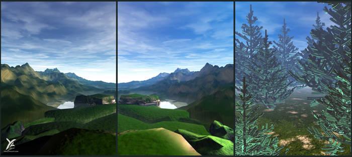 Forest landscape : testing atmospheres - textures