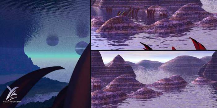 Dunes under water