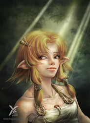 Wooden Elf by yrialinsight