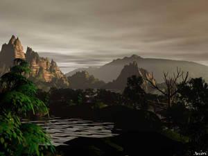 thundery landscape