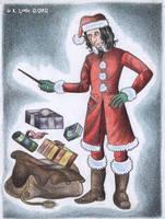 Santa Snape by PotionsTeddy