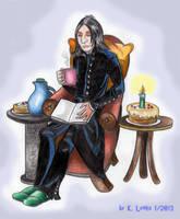 Enjoying his birthday by PotionsTeddy
