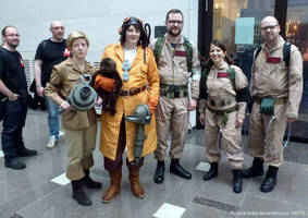 The Ghostbusters team up!