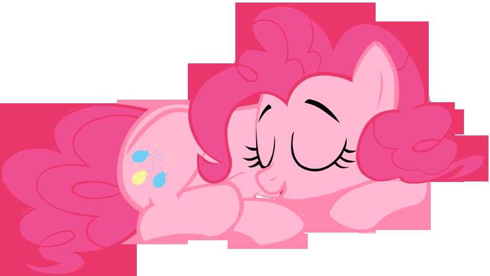 sleeping pinkie pie vector - photo #5