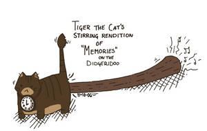 Tiger: Didgeridoo Playing Cat by sedge