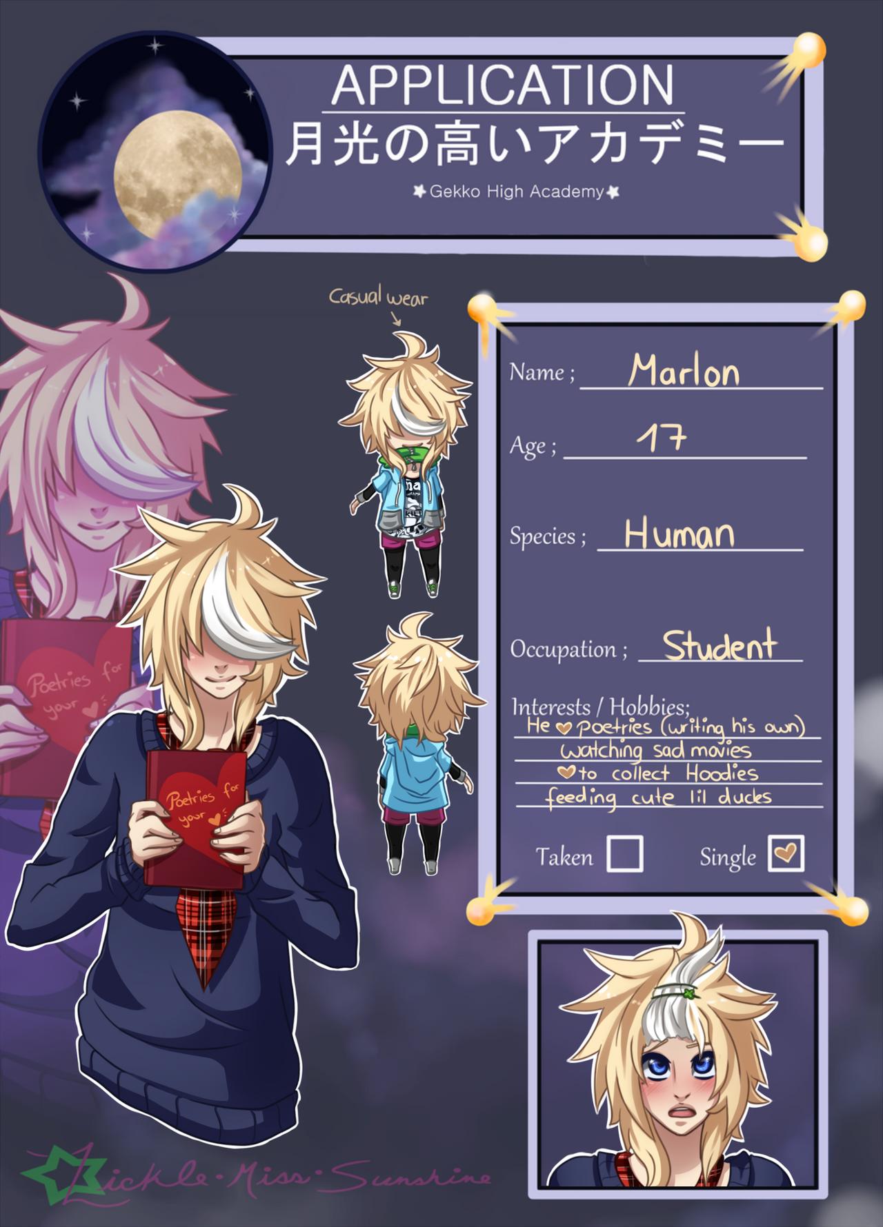 Marlon application -- Gekko High Academy by vannbun