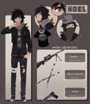 Noel the zombie fighter [reference sheet]