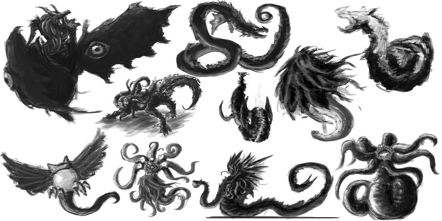 Cthulhu Concept Monsters By Ark N Reika