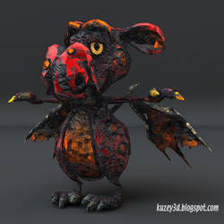 Toon Dragon: paper by Kuzey3d