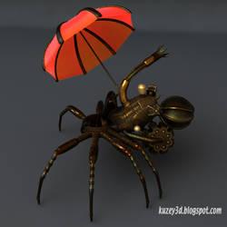 Steampunk Spider chair by Kuzey3d