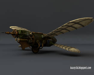 Butteridge's Flying Machine by Kuzey3d