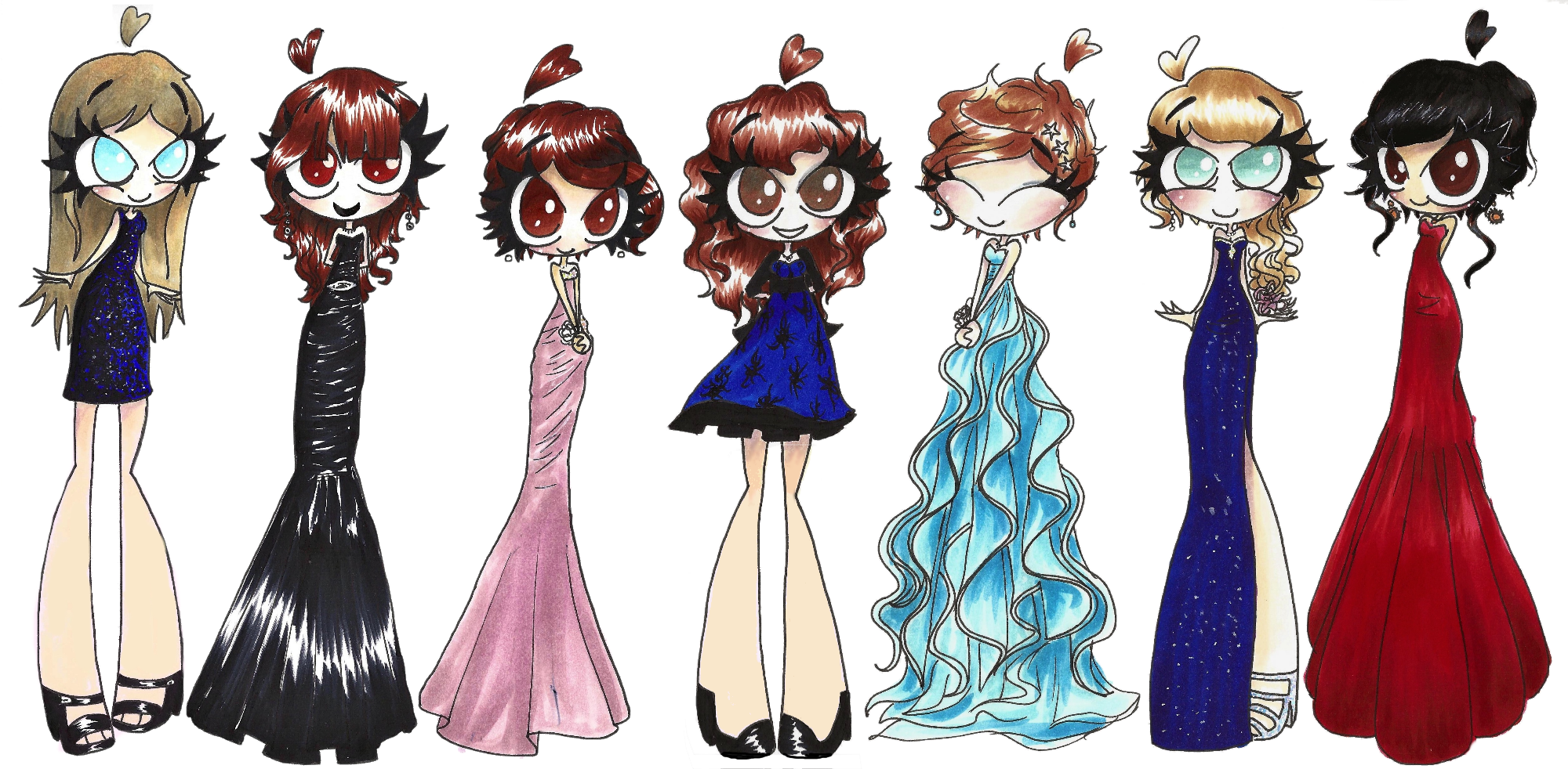 Prom Dress Cartoon Prom Dresses by Chr Ali3