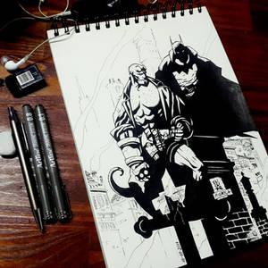 Hellboy and The Batman