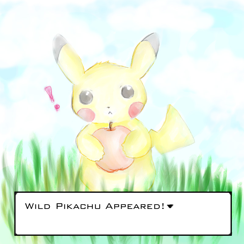 Wild pikachu by tingleytoes