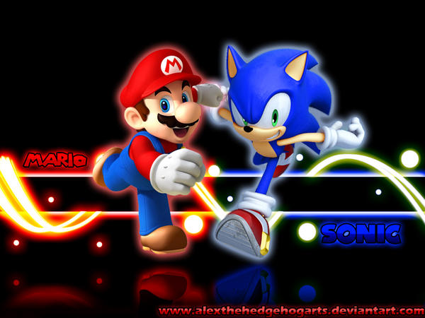Mario Vs Sonic Wallpaper Hd Mario and sonic wallpaper by