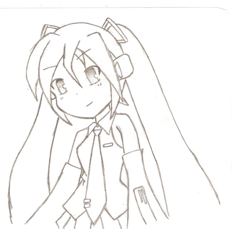 miku coloring pages - miku hatsune lineart by alexthf on deviantart
