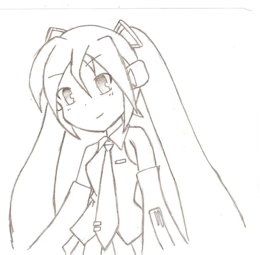 Hatsune Miku coloring page  Coloringcrewcom
