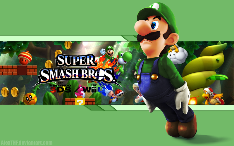 Luigi wallpaper super smash bros wii u3ds by alexthf on deviantart luigi wallpaper super smash bros altavistaventures Gallery