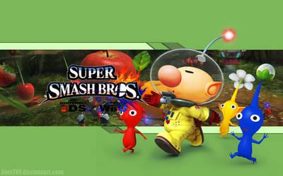 Olimar Wallpaper - Super Smas Bros. Wii U/3DS by AlexTHF