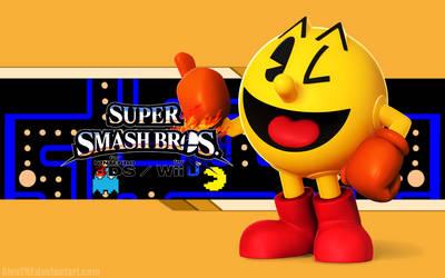 Pacman Wallpaper - Super Smash Bros. Wii U/3DS by AlexTHF