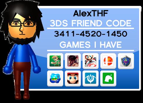 3DS Friend Code!