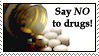 NO to drugs Stamp by Avell-Angel
