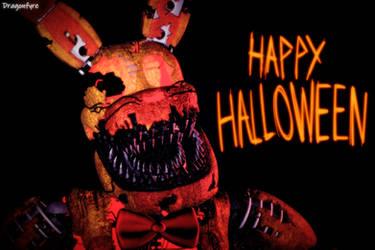 Happy Halloween! - FNaF 4 by DaisytheDragon