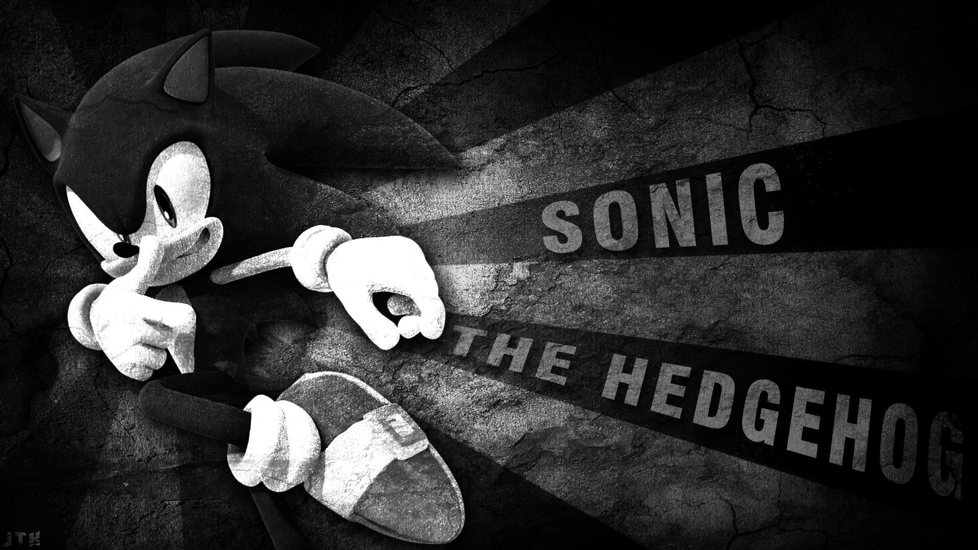 Sonic The Hedgehog Wallpaper Black And White By Jacktheknight On Deviantart