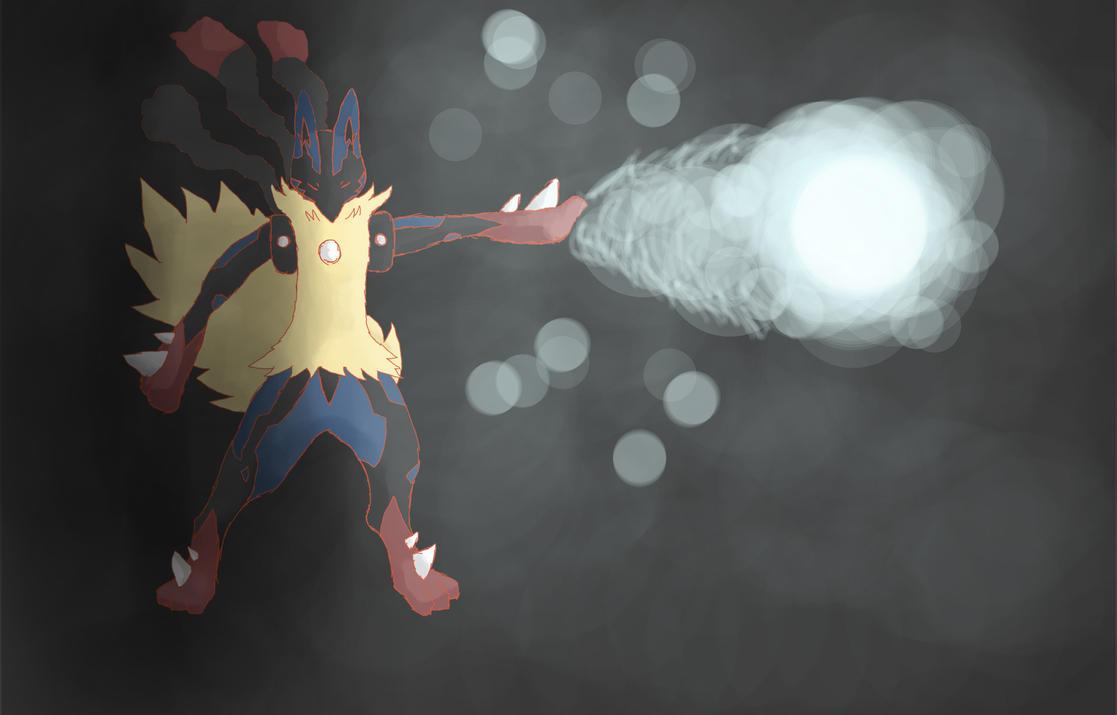 Mega Lucario Aura Sphere Pokemon X And Y By Thatyoshikid
