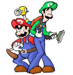 Mario and Luigi by yooki42