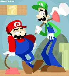 Mario and Luigi Brothers by yooki42