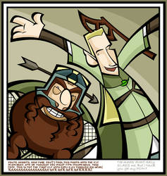 Gimli and Legolas laff it up