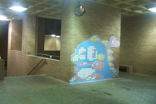 Bubble Bobble Chalk Drawing 1 by yooki42